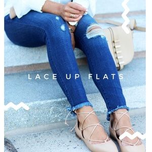 BCBGeneration • Micro Gilly Lace Up Flats 6